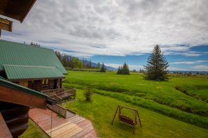 View from second floor of the meadow surrounding the Bear Track Inn